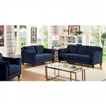 Ysabel 2 Piece Sofa Set in Navy by Furniture of America - FOA-CM6716NV