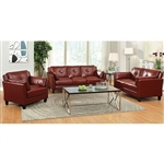 Pierre 2 Piece Sofa Set in Mahogany Red by Furniture of America - FOA-CM6717RD