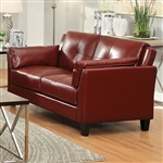Pierre Love Seat in Mahogany Red by Furniture of America - FOA-CM6717RD-LV