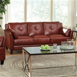 Pierre Sofa in Mahogany Red by Furniture of America - FOA-CM6717RD-SF