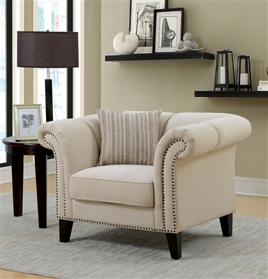Clarabelle Chair in Beige by Furniture of America - FOA-CM6777-CH