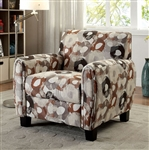 Liana Chair in Beige with Pattern by Furniture of America - FOA-CM6793PA-CH