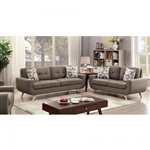 Livvy 2 Piece Sofa Set in Mocha by Furniture of America - FOA-CM6800