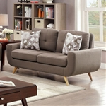 Livvy Love Seat in Mocha by Furniture of America - FOA-CM6800-LV