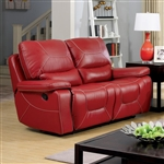 Newburg Recliner Love Seat in Red by Furniture of America - FOA-CM6814RD-LV