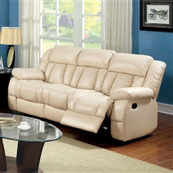 Barbado Recliner Sofa in Ivory by Furniture of America - FOA-CM6827-SF
