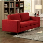 Kallie Love Seat in Red by Furniture of America - FOA-CM6848-LV