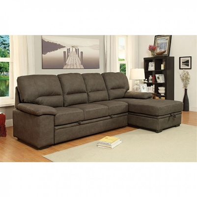 Alcester Sectional in Brown by Furniture of America - FOA-CM6908BR