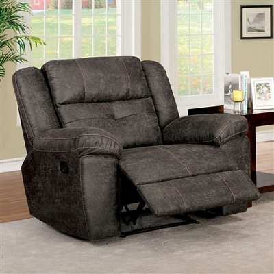 Chichester Recliner in Dark Brown by Furniture of America - FOA-CM6943-CH