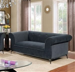 Gresford Love Seat in Gray by Furniture of America - FOA-CM6952-LV