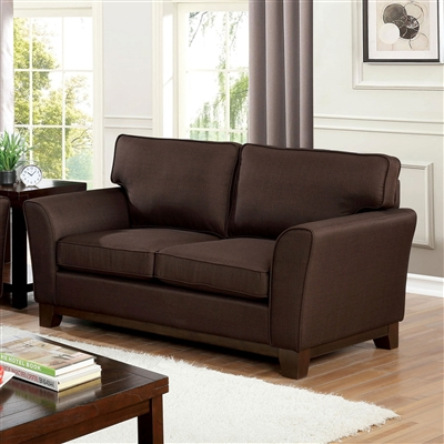 Caldicot Love Seat in Brown by Furniture of America - FOA-CM6954BR-LV