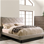 Estarra Bed in Beige Finish by Furniture of America - FOA-CM7073BG-B