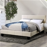 Sims Bed in Beige Finish by Furniture of America - FOA-CM7078BG-B