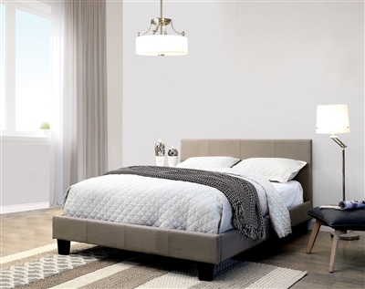 Sims Bed in Gray Finish by Furniture of America - FOA-CM7078GY-B