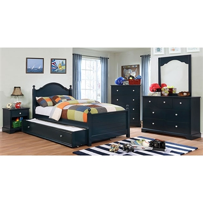 Diane 4 Piece Youth Bedroom Set by Furniture of America - FOA-CM7158BL
