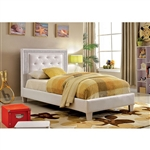 Lianne Twin Bed by Furniture of America - FOA-CM7217WH-B