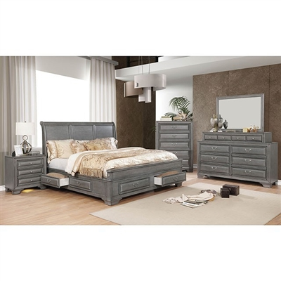 Brandt 6 Piece Bedroom Set by Furniture of America - FOA-CM7302GY