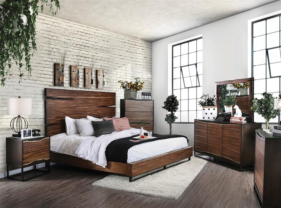 Awe Inspiring Fulton 6 Piece Bedroom Set In Dark Oak Dark Walnut Finish By Furniture Of America Foa Cm7363 Download Free Architecture Designs Jebrpmadebymaigaardcom