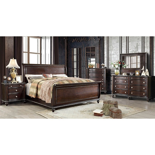 Europa 6 Piece Bedroom Set by Furniture of America - FOA-CM7389