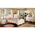 Victoria 4 Piece Youth Bedroom Set with Canopy by Furniture of America - FOA-CM7519CP