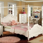Victoria Twin Bed with Canopy by Furniture of America - FOA-CM7519CP-B