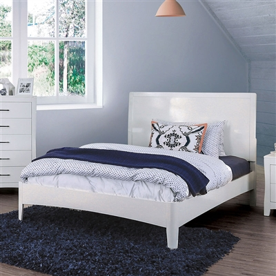 Deanne Bed in White Finish by Furniture of America - FOA-CM7527WH-B