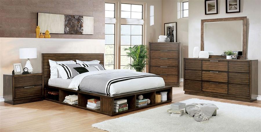 Terrific Torino 6 Piece Bedroom Set In Walnut Finish By Furniture Of America Foa Cm7543 Download Free Architecture Designs Jebrpmadebymaigaardcom
