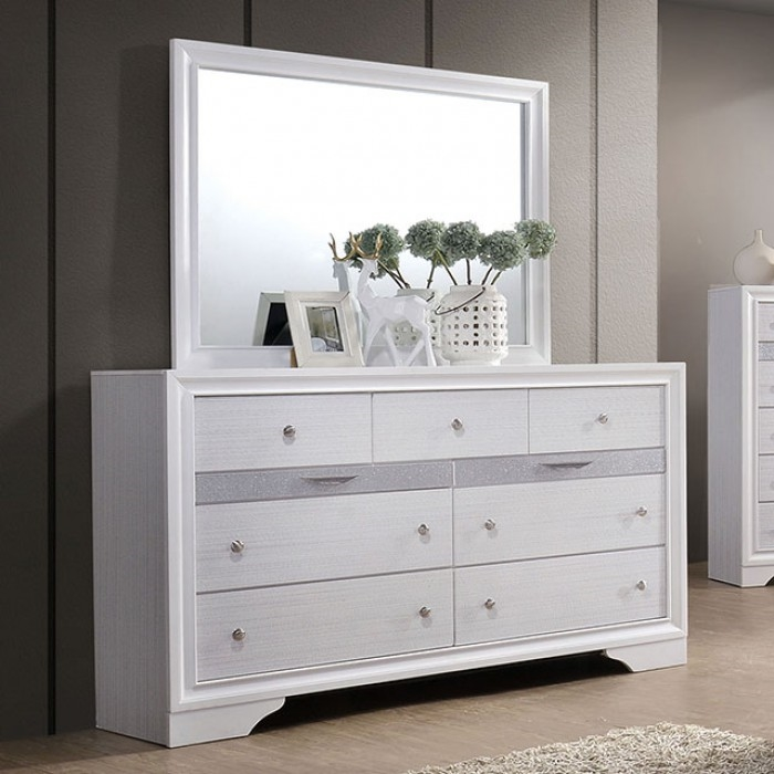 Chrissy 6 Piece Bedroom Set by Furniture of America - FOA-CM7552