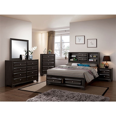 Carlynn 6 Piece Bedroom Set by Furniture of America - FOA-CM7555