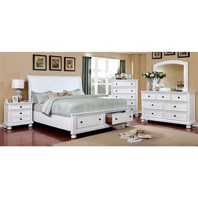 Castor 6 Piece Bedroom Set by Furniture of America - FOA-CM7590WH