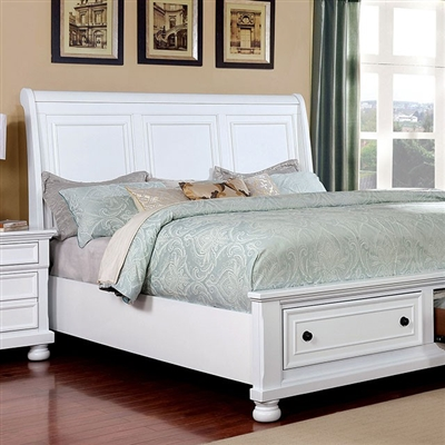 Castor Bed by Furniture of America - FOA-CM7590WH-B
