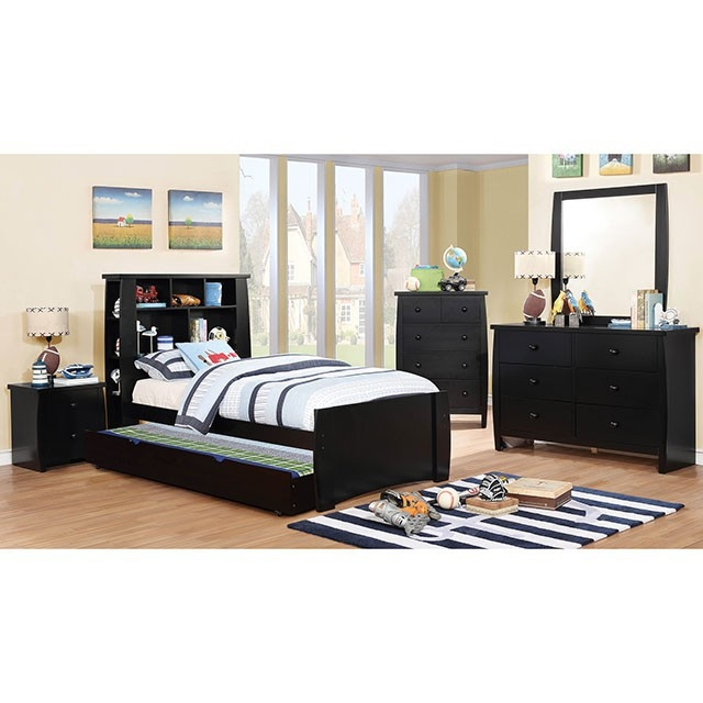 Marlee 4 Piece Youth Bedroom Set By Furniture Of America FOA CM7651BK