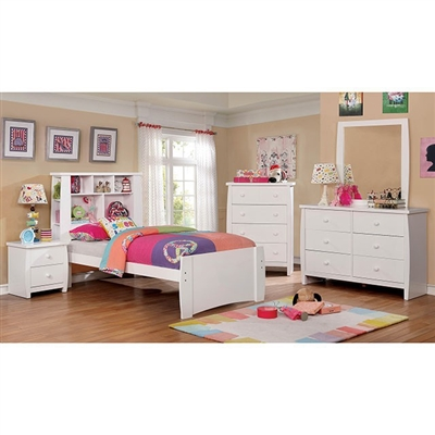 Marlee 4 Piece Youth Bedroom Set by Furniture of America - FOA-CM7651WH
