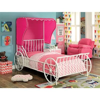 Charm Metal Twin Bed by Furniture of America - FOA-CM7715-B