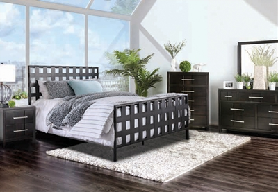 Earlgate 6 Piece Bedroom Set in Gray Finish by Furniture of America - FOA-CM7758