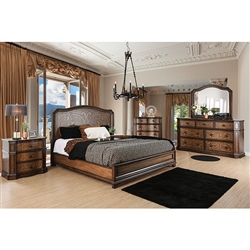 Emmaline 6 Piece Bedroom Set by Furniture of America - FOA-CM7831