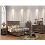 Oberon 6 Piece Bedroom Set in Rustic Oak Finish by Furniture of America - FOA-CM7845