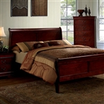 Louis Philippe III Bed by Furniture of America - FOA-CM7866CH-B