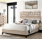 Elaina Bed in Beige/Espresso Finish by Furniture of America - FOA-CM7898-B