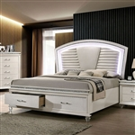 Maddie Bed in Pearl White/White Finish by Furniture of America - FOA-CM7899-B