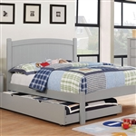 Caren Twin Bed by Furniture of America - FOA-CM7902GY-B