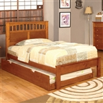 Carus Bed by Furniture of America - FOA-CM7904OAK-B