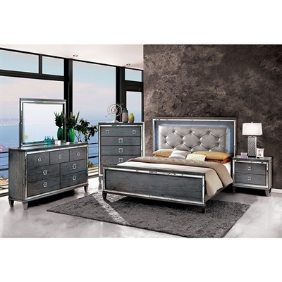 Clover 6 Piece Bedroom Set by Furniture of America - FOA-CM7971