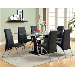 Glenview 7 Piece Dining Room Set by Furniture of America - FOA-CM8372BK-T