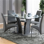 Glenview 7 Piece Dining Room Set by Furniture of America - FOA-CM8372GY-T