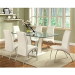 Glenview 7 Piece Dining Room Set by Furniture of America - FOA-CM8372WH-T