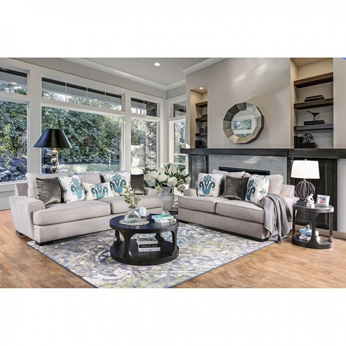 Renesmee 2 Piece Sofa Set in Gray by Furniture of America - FOA-SM1223