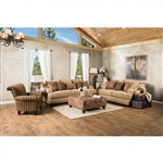 Arklow 2 Piece Sofa Set in Tan by Furniture of America - FOA-SM1241