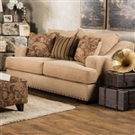 Arklow Love Seat in Tan by Furniture of America - FOA-SM1241-LV