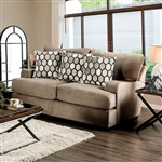 Glynis Love Seat in Tan by Furniture of America - FOA-SM1275-LV
